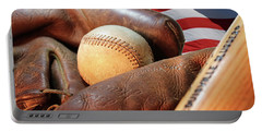 Americas Pastime Portable Battery Charger by Pat Cook