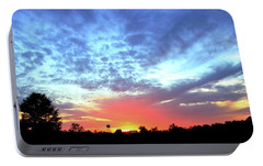 Portable Battery Charger featuring the photograph City On A Hill - Americus, Ga Sunset by Jerry Battle