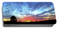 City On A Hill - Americus, Ga Sunset Portable Battery Charger