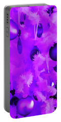 Portable Battery Charger featuring the photograph Amethyst Christmas Tree Ornaments by Aimee L Maher Photography and Art Visit ALMGallerydotcom