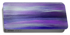Amethyst Mirage  Portable Battery Charger by Rachel Hannah