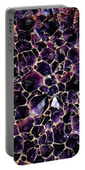 Amethyst Quartz Crystal Smithsonian Portable Battery Charger by Kyle Hanson