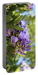 Amethyst Shower Portable Battery Charger by Ella Kaye Dickey
