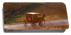 Amish Buggy Afternoon Sun Portable Battery Charger