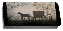 Amish Buggy Foggy Sunday Portable Battery Charger