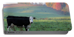 Amish Cow Early Morning  5788 Portable Battery Charger
