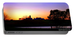 Amish Farm Sunset Portable Battery Charger