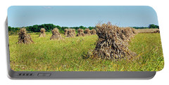 Portable Battery Charger featuring the photograph Amish Harvest by Cricket Hackmann