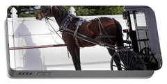 Amish Horse And Buggy In Lancaster County, Pennsylvania Portable Battery Charger