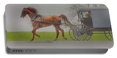 Amish Sunday Ride Portable Battery Charger