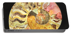Ammonite Fossil Portable Battery Charger