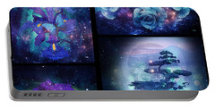 Portable Battery Charger featuring the digital art Among The Stars Series by Mo T