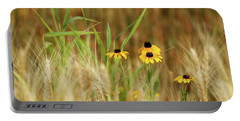 Among The Wheat 1 Portable Battery Charger by Jimmy Ostgard