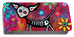 Portable Battery Charger featuring the painting Amor Pelado by Pristine Cartera Turkus