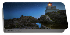 Portable Battery Charger featuring the photograph Amphitrite Point Lighthouse by William Lee