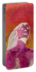 Portable Battery Charger featuring the painting Amphitrite Siren Of Sunset Reef by Donna Walsh
