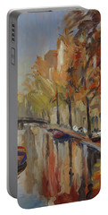 Amsterdam Autumn With Boat Portable Battery Charger