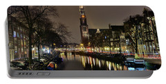 Amsterdam By Night - Prinsengracht Portable Battery Charger