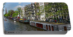 Amsterdam Canal Portable Battery Charger by Anthony Dezenzio
