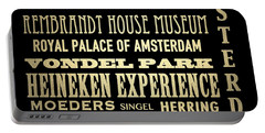 Amsterdam Famous Landmarks Portable Battery Charger