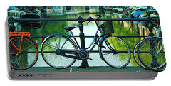 Portable Battery Charger featuring the photograph Amsterdam Scene by Allen Beatty