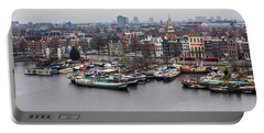 Amsterdam Skyline Portable Battery Charger by Aleck Cartwright