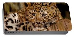 Amur Leopard Cub Portable Battery Charger