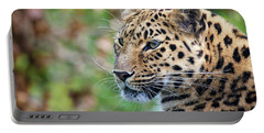 Amur Leopard Portrait Portable Battery Charger