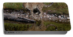 Amur Leopard Reflection Portable Battery Charger