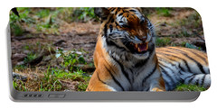 Portable Battery Charger featuring the mixed media Amur Tiger 3 by Angelina Vick