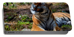 Portable Battery Charger featuring the mixed media Amur Tiger 6 by Angelina Vick