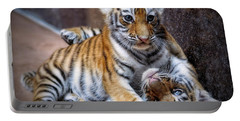 Amur Tiger Cubs Portable Battery Charger