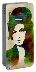Amy Winehouse Watercolor Portable Battery Charger