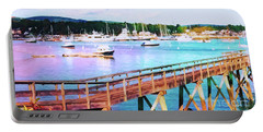 An Abstract View Of Southwest Harbor, Maine  Portable Battery Charger
