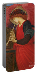 An Angel Playing A Flageolet Portable Battery Charger by Sir Edward Burne-Jones