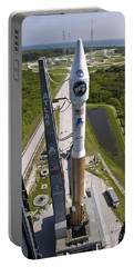 An Atlas V Rocket On The Launch Pad Portable Battery Charger by Stocktrek Images