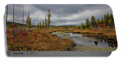 Portable Battery Charger featuring the photograph An Autumn Afternoon On Raquette Lake by David Patterson