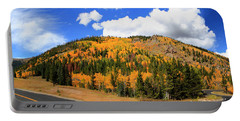 An Autumn Drive - Panorama Portable Battery Charger
