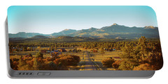 An Autumn Evening In Pagosa Meadows Portable Battery Charger