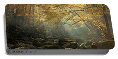 An Autumn Morning Portable Battery Charger by Mike Eingle