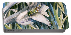An Easter Lily Portable Battery Charger by Mindy Newman