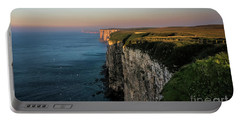 An Evening At Bempton Cliffs Portable Battery Charger by David  Hollingworth
