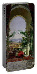An Odalisque On A Terrace Portable Battery Charger