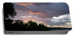 Portable Battery Charger featuring the photograph An Ohio River Valley Sunrise by Skyler Tipton