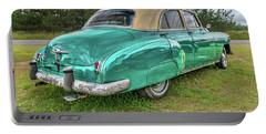 Portable Battery Charger featuring the photograph An Old Chevy By The Road In Rural Maine by Guy Whiteley