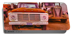 Portable Battery Charger featuring the photograph An Old Ford And Kenworth by Jeff Swan