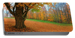 An Old Maple Tree In Autumn Color Portable Battery Charger