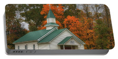 An Old Ohio Country Church In Fall Portable Battery Charger