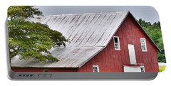 Portable Battery Charger featuring the photograph An Old Red Barn by Kim Bemis
