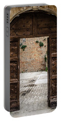 An Old Wooden Door 2 Portable Battery Charger by Andrea Mazzocchetti